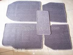 灰色横纹汽车亚麻地毯