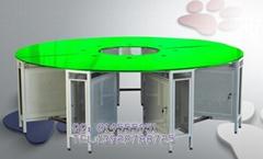 鋼化玻璃網吧桌面