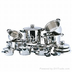 18pcs wide edge cookware set