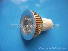 大功率燈杯外殼 LED燈具外殼3*1W