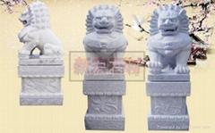 寺庙石雕狮子