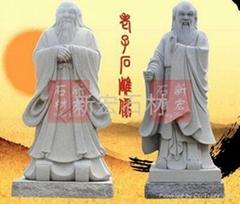 古人老子石雕像