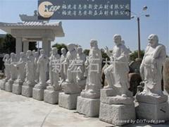 十八羅漢石雕像