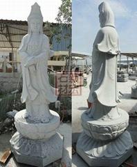 滴水石雕刻觀音