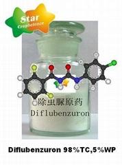 Diflubenzuron 98%TC,5%WP