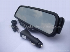 bluetooth rearview mirror with display English Name support tts function