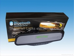 bluetooth rearview mirror with FM wireless display english name function