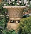 砂岩浮雕花盆