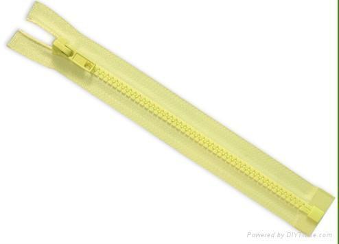 #5 Plastic zipper open end a/l 1