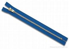 #3 metal zipper  closed YG slider