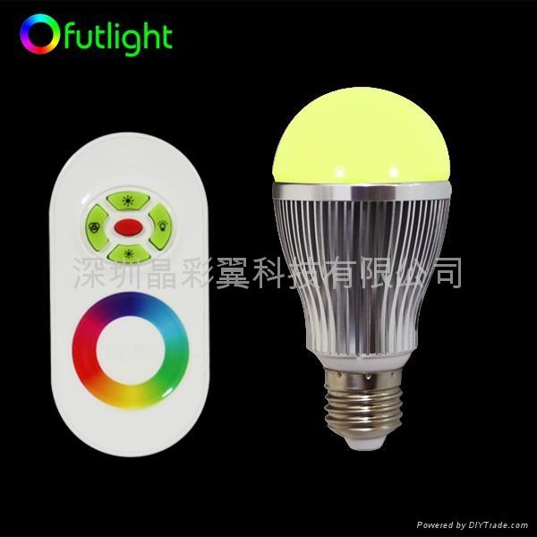 LED遙調光調色球泡 1
