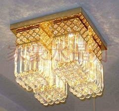 Square crystal ceiling lighting crystal lamp