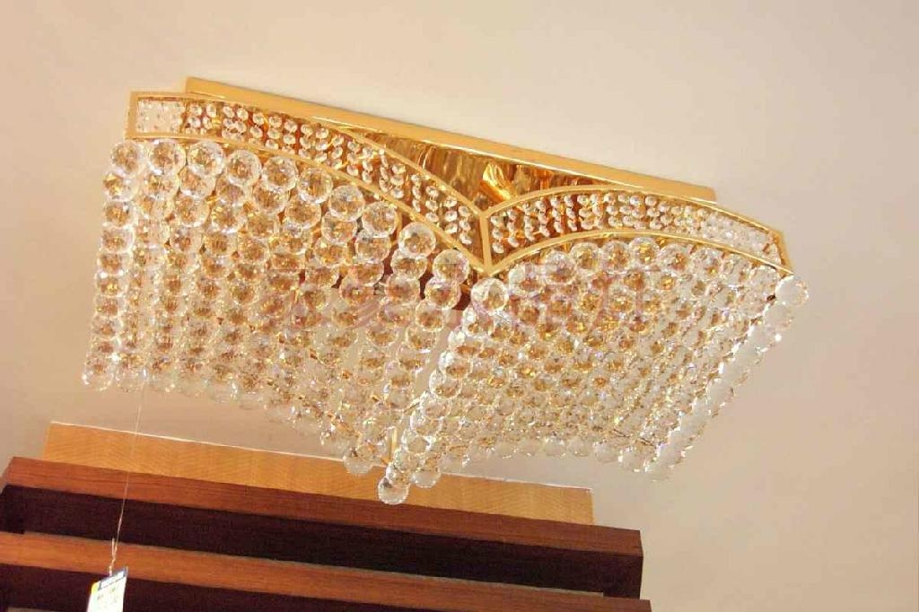 Square crystal ceiling lighting crystal lamp 4