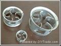 Metallic cascade ring