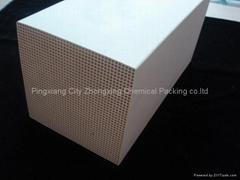 Ceramic honeycomb heat accumulator