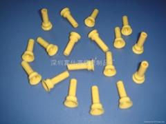 供應加工黃色硅橡膠吸嘴
