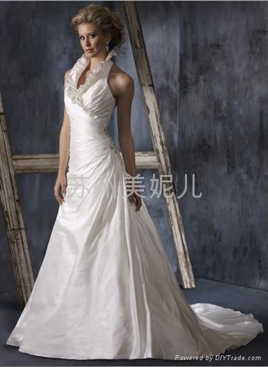 批發供應外貿精美婚紗JQ02 1