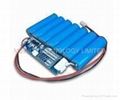 18650 Lithium-Ion Battery Pack With Pcm, Wire, 25.9V Voltage and 2.200mAh