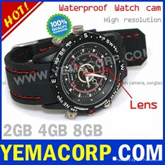 [Y-WHDVRU] Waterproof Hidden Watch Spy Camera from Yemacorp