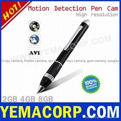 [Y-MP9MD] 4GB/8GB  Motion Detection Pen Camera from YEMACORP