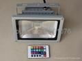 free shipping led flood light 10W 20W led rgb flood light with IR remote control 1