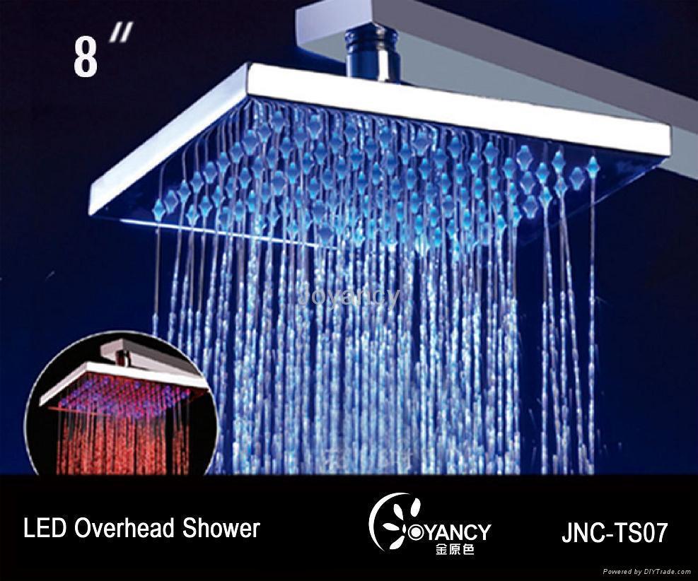 LED overshower head-JNC-TS07 1