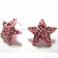 crystal rhinestone alloy and cooper fashion earring jewelry accessories