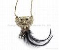 Archaize Antique gold and silver Fashion Owl pendant charm long necklaces 5