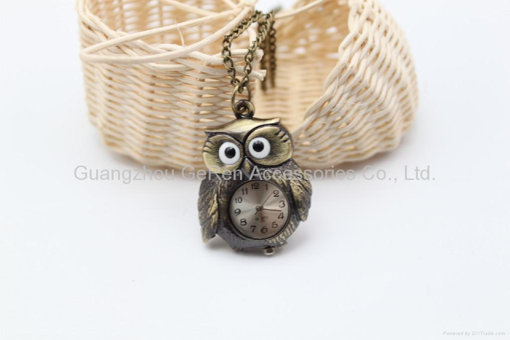 Antique three-dimensional and planar Fashion Owl pendant charm long necklaces 5