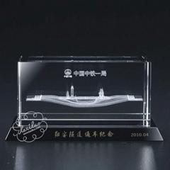 厦门水晶内雕商务礼品(图)