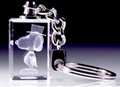 廈門水晶鑰匙扣內雕(圖)