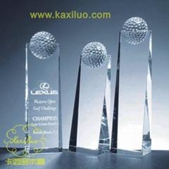 供應卡西羅水晶高爾夫獎杯
