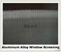 Aluminum alloy window screening