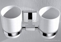 Double Ceramic tumbler holder