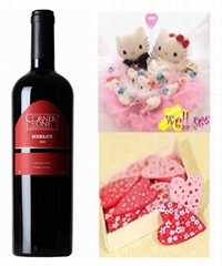 婚慶專用葡萄酒 梅洛喜慶干紅葡萄酒