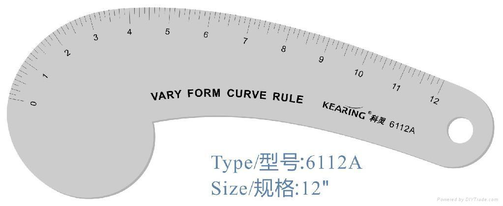 metal french curve/design ruler