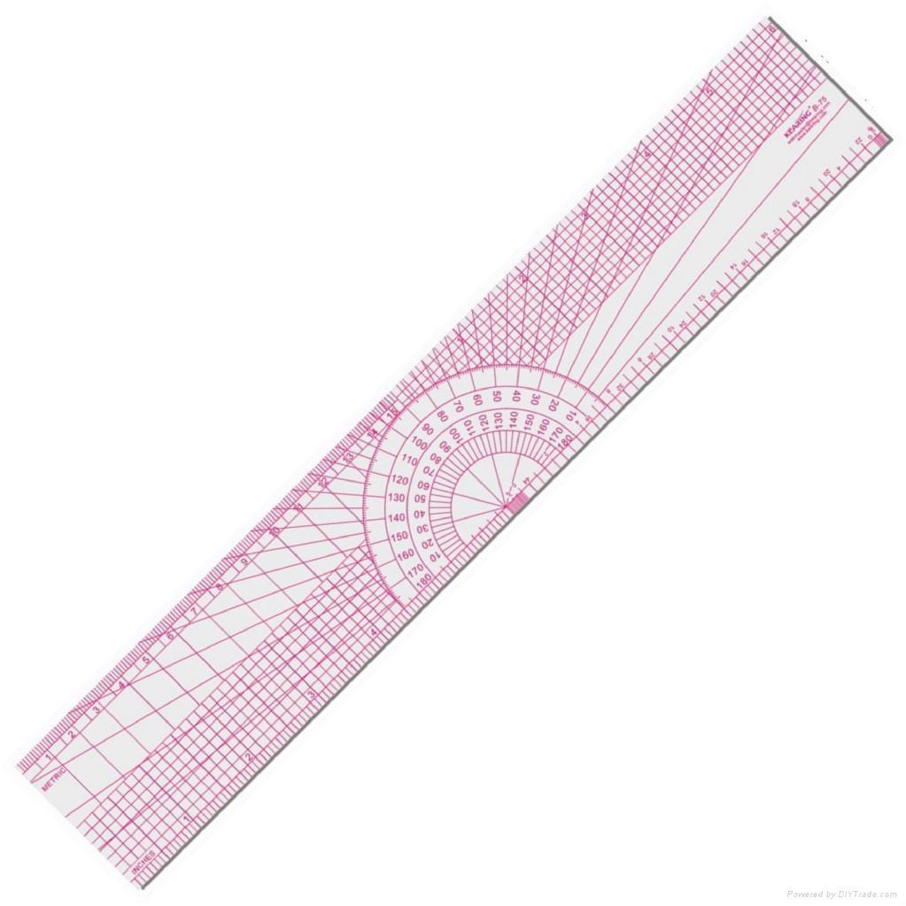 plastic/straight ruler