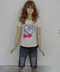 女式短袖印花T恤批发定做厂家直销