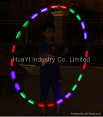 ribbon stick wand LED light up ball kids toy rainbow gymnastic dance
