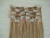 remy hair clip in hair extension hair weft