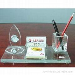 广州水晶办公三套件