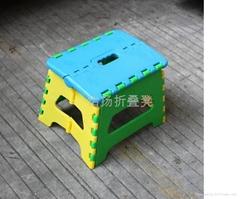 小蝴蝶型塑料折疊凳