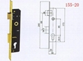 Aluminium door lock, with cylinder,mortise lock