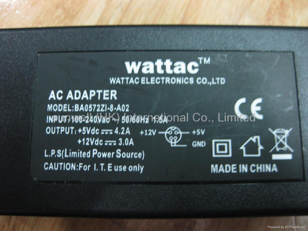100-240V 5V 4.2A 12V 3A dual output power adapter for HDD 2