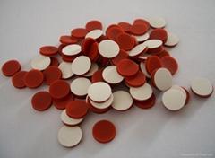 白色特氟龙红色硅胶垫片8*1.5mm