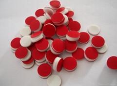 红色特氟龙白色硅胶隔垫8*1.5mm
