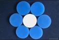 白色特氟龍白藍色硅膠隔墊20*