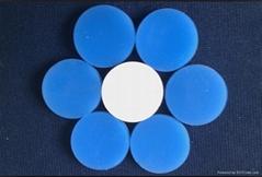 白色特氟龍白藍色硅膠隔墊20*3mm
