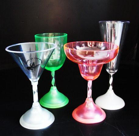 塑料 LED 发光 高脚酒杯 1