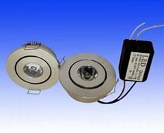 1W LED downlight led ceiling lighting led spotlight indoor recessed led light